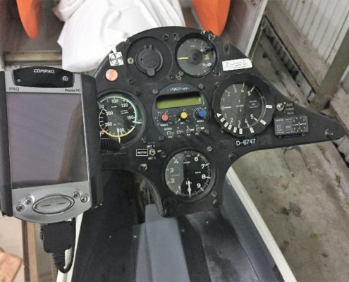 ASW19b D-6747 instrumentenbord
